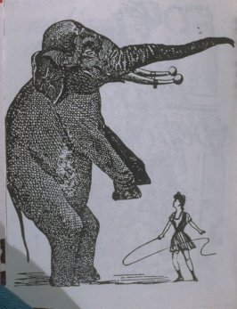 Untitled,elephant being trained in the book, Untitled ( i felt your eyes, etc.)([no publisher]:1992)
