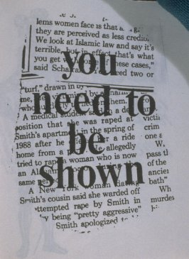 you need to be shown in the book, Untitled ( i felt your eyes, etc.)([no publisher]:1992)