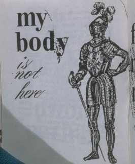 my body is not here in the book, Untitled ( i felt your eyes, etc.)([no publisher]:1992)