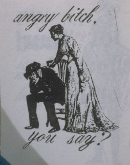 angry bitch, you say? in the book, Untitled ( i felt your eyes, etc.)([no publisher]:1992)