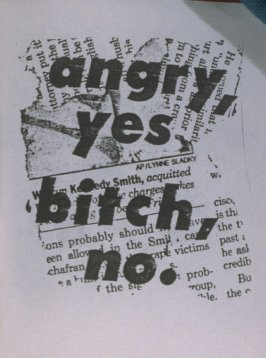 angry ,yes, bitch, no. in the book, Untitled ( i felt your eyes, etc.)([no publisher]:1992)
