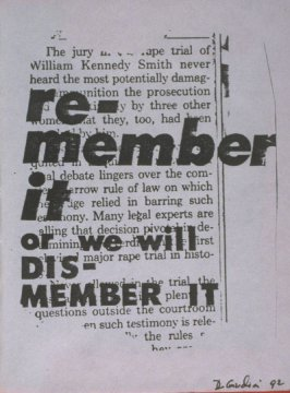 re-member it or we will dis-member it in the book, Untitled ( i felt your eyes, etc.)([no publisher]:1992)