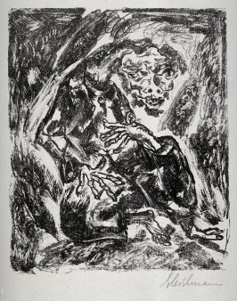 One of 10 lithographs to the 2nd Book of Maccabeus: 5 Antiochus seris, 5 Maccabeus series?