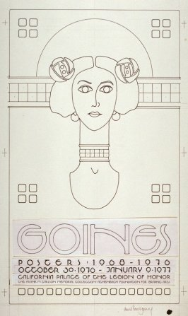 Design for the Exhibition Poster: for Goines/ Posters:1900-1976