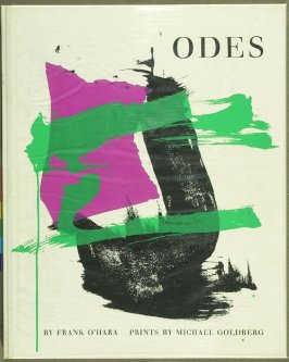 Cover for the book Odes by Frank O'Hara in the Portfolio of 4 Books of Poetry (New York: Tiber Press, 1960)