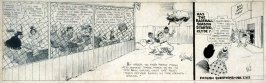 """""""Baseball and Business Can Go Hand in Hand"""", cartoon for the magazine, College Humor"""