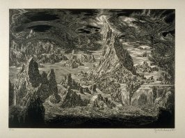 Wasser scheidet sich von der Erde (The Division of Water and Earth)- Plate 3 from the portfolio Die Bibel (The Bible)