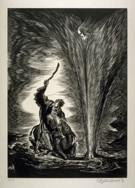 Bileams Eselin (Bileam's Donkey)- Plate 11 from the portfolio Die Bibel (The Bible)