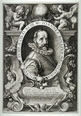 Portrait of Hans Bol (1534-1593) at the age of 58
