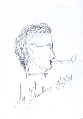 Sy Gomberg, Illustration 21 in the book Sketchbook (Sun Valley, Idaho)