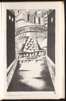 Untitled, between pgs. 15 and 16, in the book Gorod: Stikhi (The City: Verse) by Nicolay Rubakin (Paris: unknown, 1920)