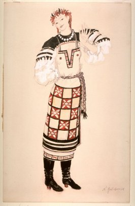 Costume for a Peasant Girl in the ballet Foire de Sorotchinsk