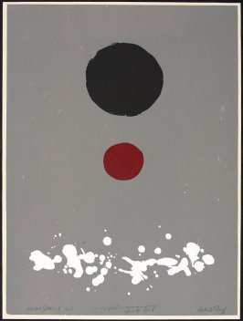 Untitled (abstract with red and black motifs)