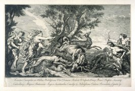 Diana on a stag hunt (Servatur Exemplar, etc.)