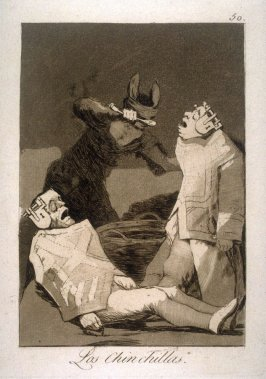 Los Chinchillas (The Chinchillas), plate 50 from the series Los Caprichos (Caprices)
