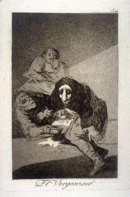 El Vergonzoso (The Shamefaced One), plate 54 from the series Los Caprichos (Caprices)