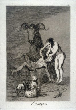 Ensayos (Trials), plate 60 from the series Los Caprichos (Caprices)