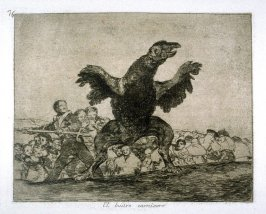 El buitre carnívoro (The Carnivorous Vulture),pl.76 from the series Los desastres de la guerra (The Disasters of War)