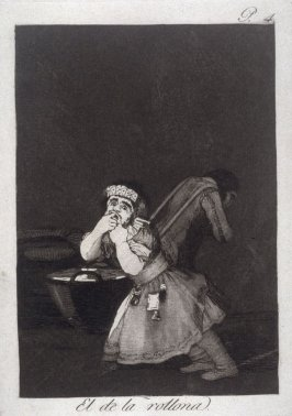 El de la rollona (Nanny's Boy), plate 4 from the series Los Caprichos (Caprices)