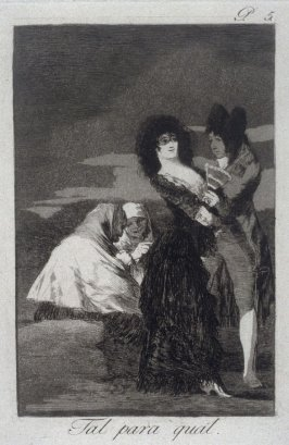 Tal para qual (Two of a Kind), plate 5 from the series Los Caprichos (Caprices)