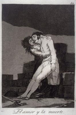 El amor y la muerte (Love and Death) , plate 10 from the series Los Caprichos (Caprices)