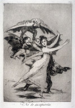 No te escaparas ( You Will Not Escape ), Plate 72 from the series Los Caprichos (Caprices)
