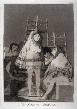 Ya tienen asiento (They Already have a Seat), plate 26 from the series Los Caprichos (Caprices)
