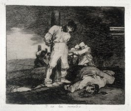 Y no hai remedio (And There's No Help for It), pl. 15 from the series Los desastres de la guerra (The Disasters of War)