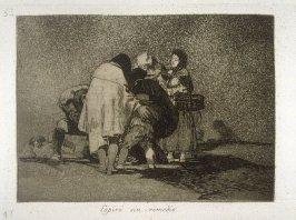Espiró sin remedio (There Was Nothing To Be Done and He Died), pl.53 from the series Los desastres de la guerra (The Disasters of War)