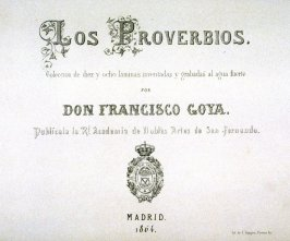 Los Proverbios - Title page to 1864 Edition