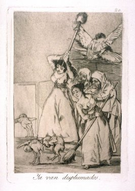 Ya van desplumados (There They Go Plucked, i.e. Fleeced), plate 20 from the series Los Caprichos (Caprices)