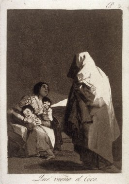 Que viene el Coco (Here comes the Bogeyman), plate 3 from the series Los Caprichos (Caprices)