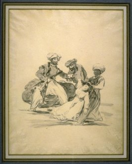 Three Moors Carrying Off a Woman