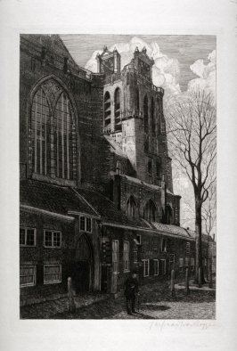 A Dutch Church ( with two clock faces)