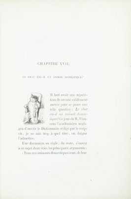 """Lettre ornée, d'apreès Grandville,"" chapter device pg. 159, in the book Les Chats (Cats) by Champfleury (Paris: J. Rothschild, 1870)."