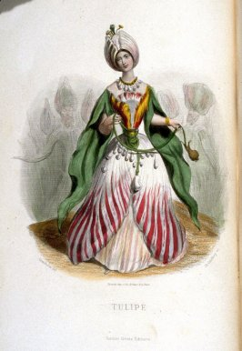 Tulipe, plate opposite p. 81 in the book, Les Fleurs animées (Paris: Garnier Frères, undated)