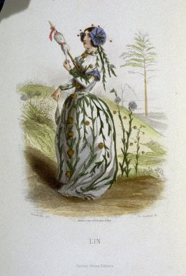 Lin, plate opposite p. 279 in the book, Les Fleurs animées (Paris: Garnier Frères, undated)