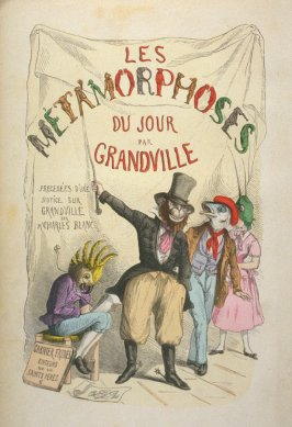 Frontispiece in the book Les métamorphoses du jour. new ed. (Paris: Garnier Fréres, 1869)