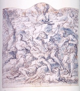 Recto: Death of AbelVerso: Study for a Curtain