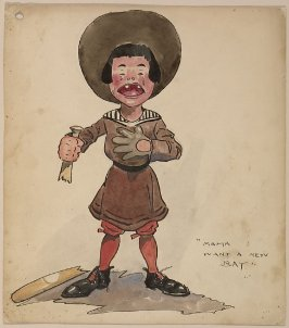 "Cartoon, ""Mama I Want a New Bat"""