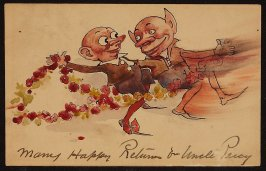 Many Happy Returns from Uncle Percy (Two Gremlins)