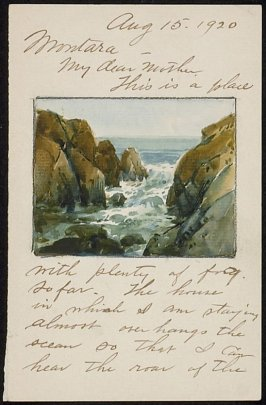Illustrated letter: Montara, Aug.15th 1920