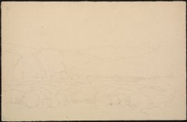 Sketch of a valley scene