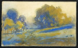 Untitled ( Landscape) from a Letter to Edmond D. Coblentz