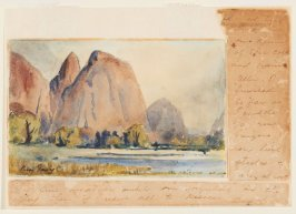 Cathedral Rocks, Yosemite. (Illustration from a letter)