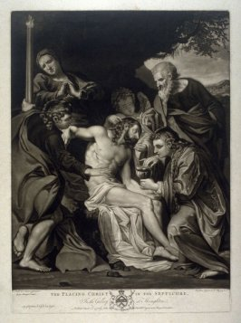 Placing Christ in the Sepulchre. In the Gallery at Houghton