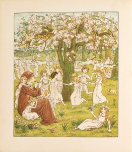 Frontispiece (May Day Dance) in the bookThe Pied Piper of Hamelin by Robert Browning (London and New York: Frederick Warne, [1888])