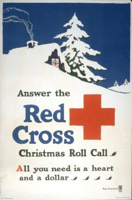 Answer the Red Cross Christmas Roll - World War I Poster