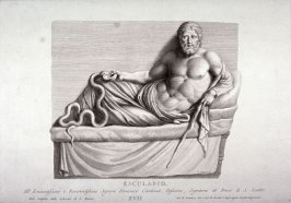 Aesculapius, from a carving in the Library of S. Marco, Florence