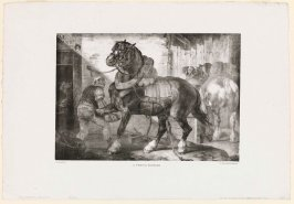 A French Farrier, plate 12 from the series Various Subjects Drawn from Life on Stone